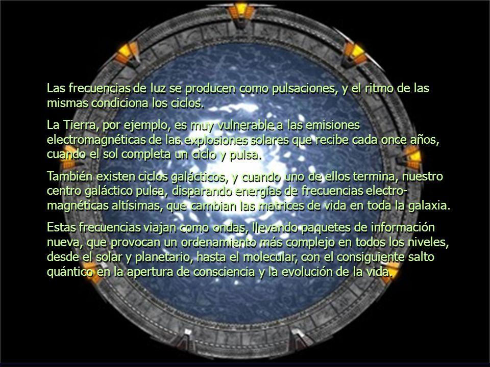 Las frecuencias de luz se producen como pulsaciones, y el ritmo de las mismas condiciona los ciclos.