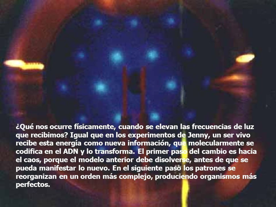 ¿Qué nos ocurre físicamente, cuando se elevan las frecuencias de luz que recibimos.