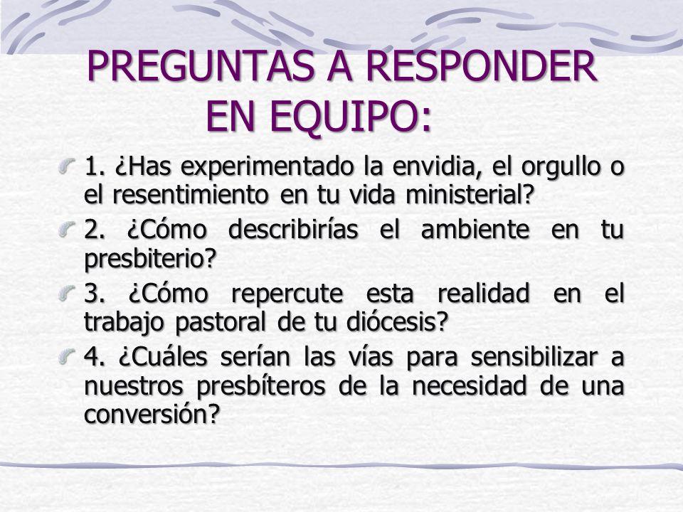 PREGUNTAS A RESPONDER EN EQUIPO: