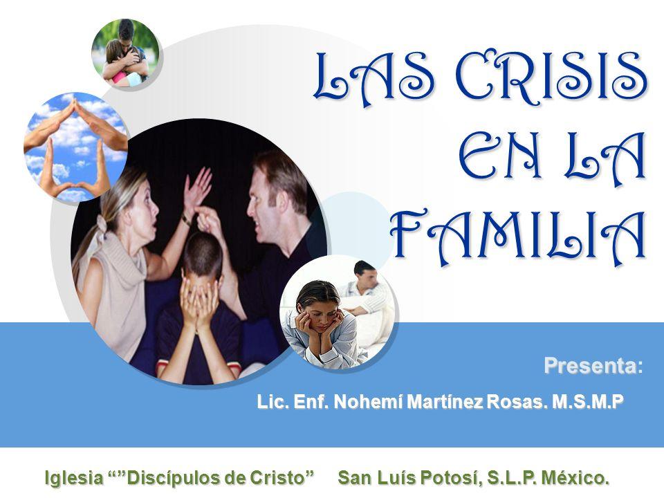 LAS CRISIS EN LA FAMILIA