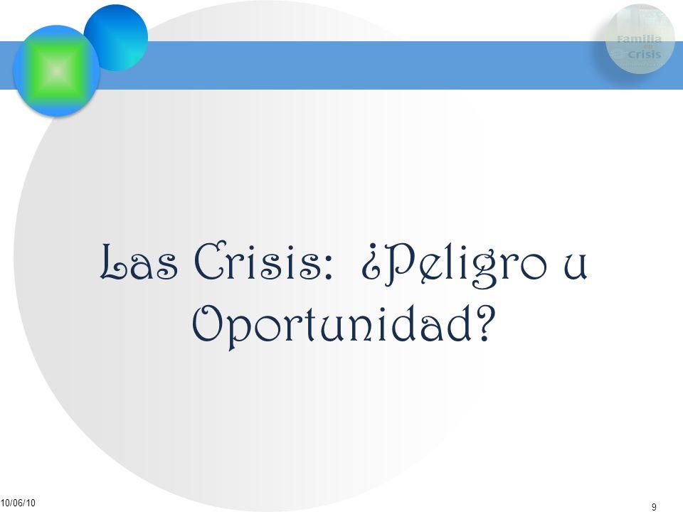 Las Crisis: ¿Peligro u Oportunidad