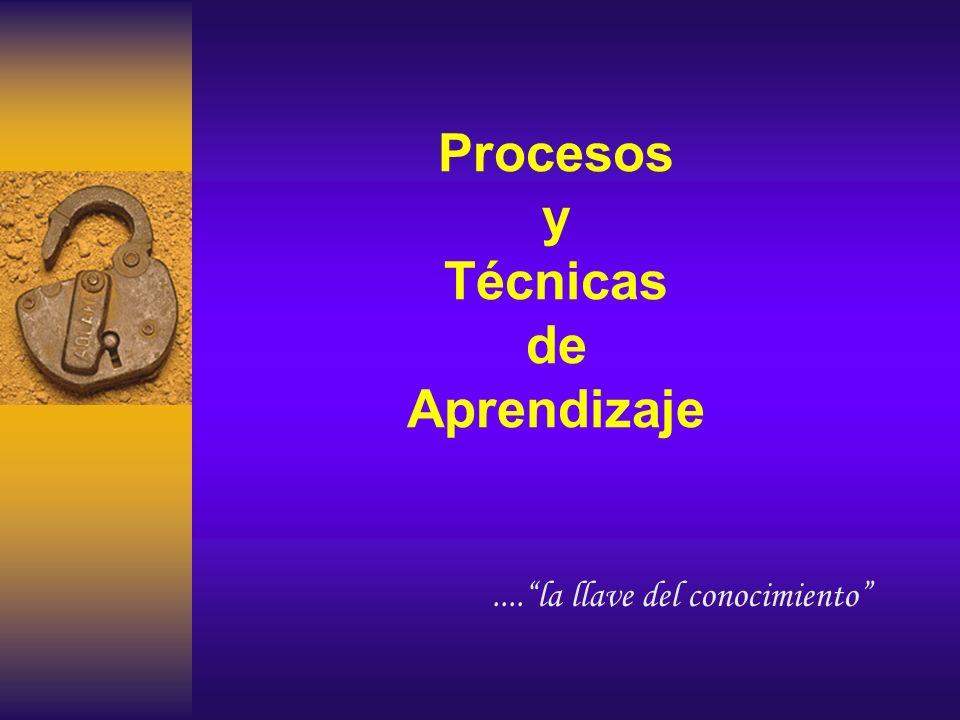 Procesos y Técnicas de Aprendizaje