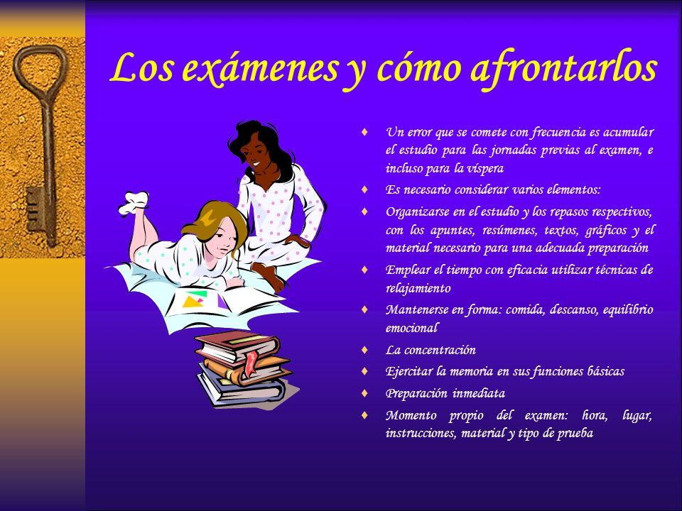 Los exámenes y cómo afrontarlos