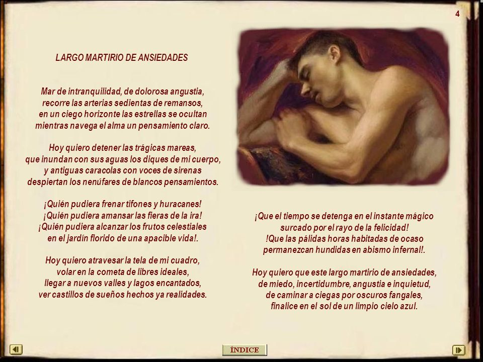 LARGO MARTIRIO DE ANSIEDADES