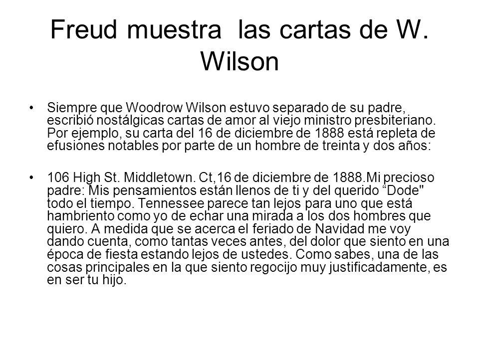 Freud muestra las cartas de W. Wilson