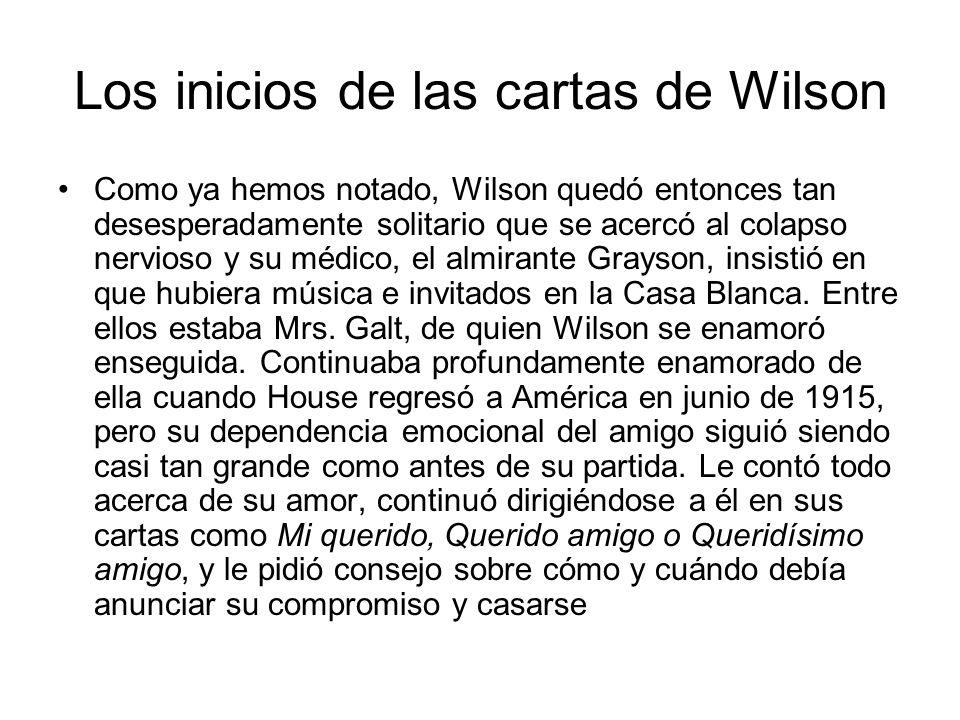 Los inicios de las cartas de Wilson