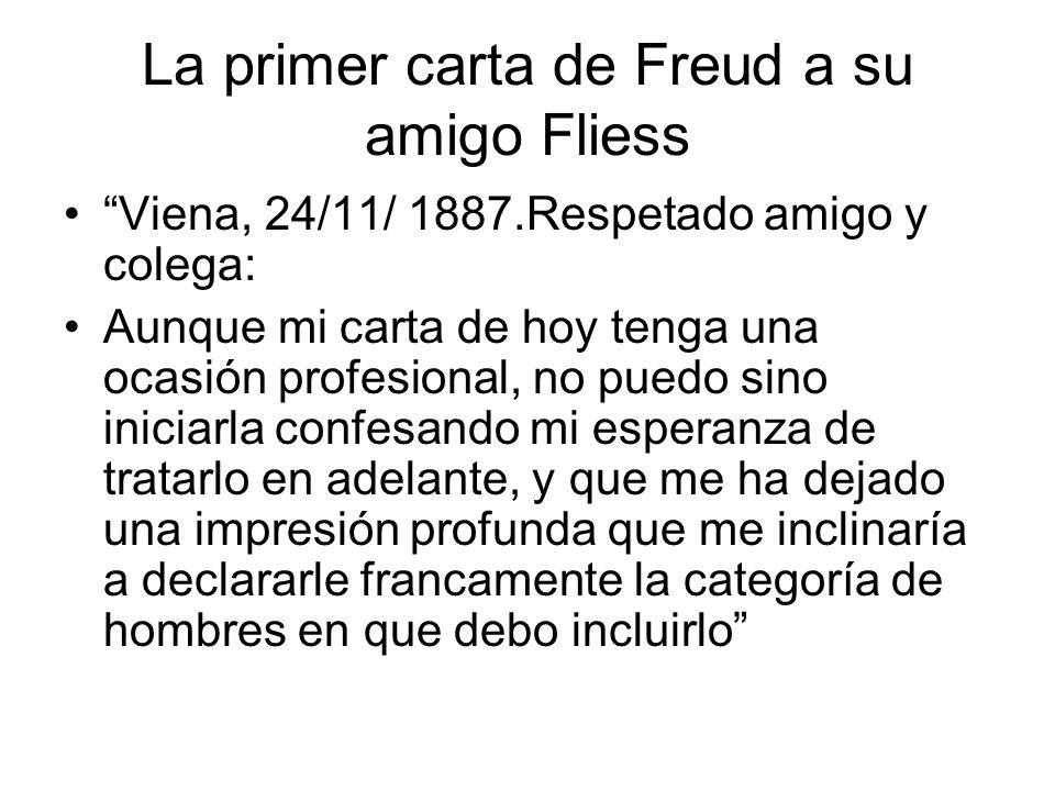 La primer carta de Freud a su amigo Fliess