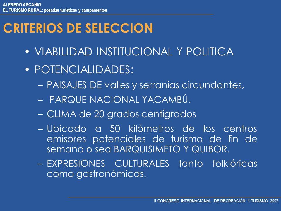 CRITERIOS DE SELECCION