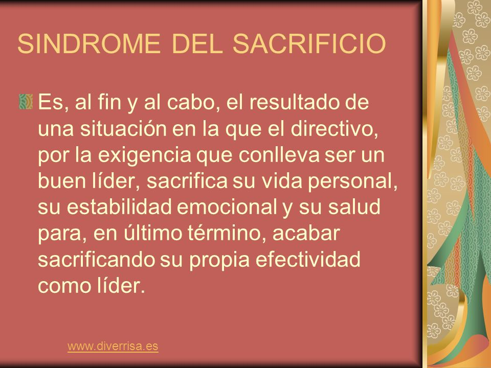 SINDROME DEL SACRIFICIO