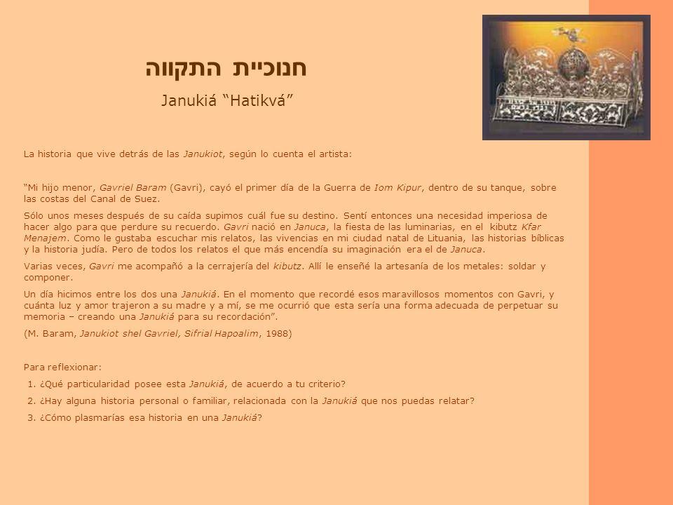 חנוכיית התקווה Janukiá Hatikvá