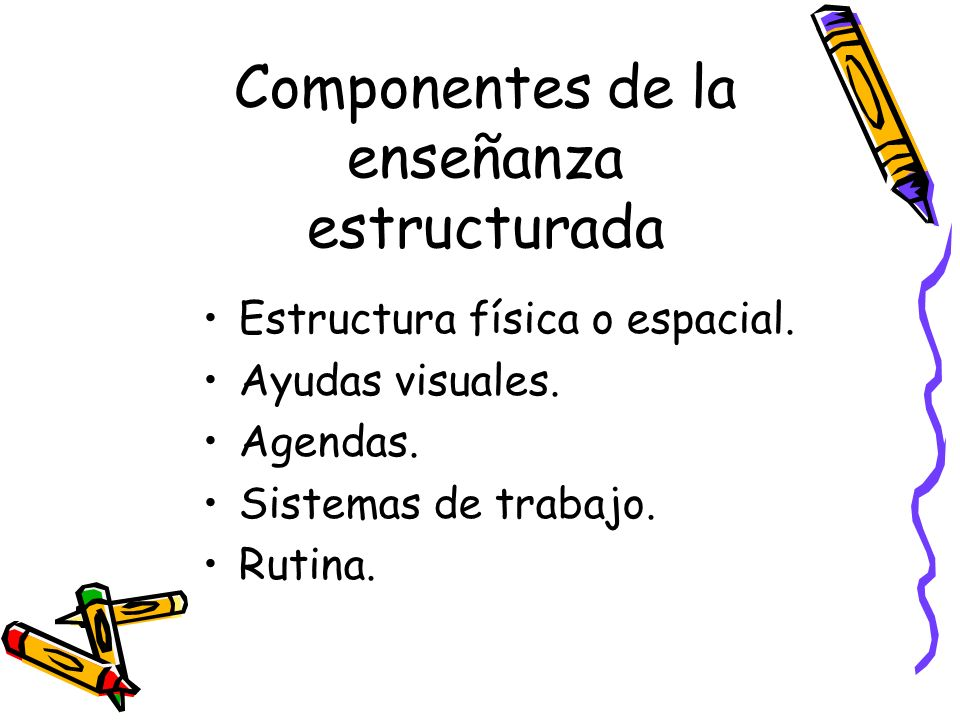 Componentes de la enseñanza estructurada
