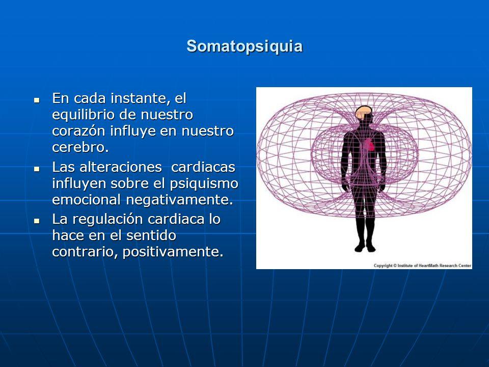 Somatopsiquia En cada instante, el equilibrio de nuestro corazón influye en nuestro cerebro.