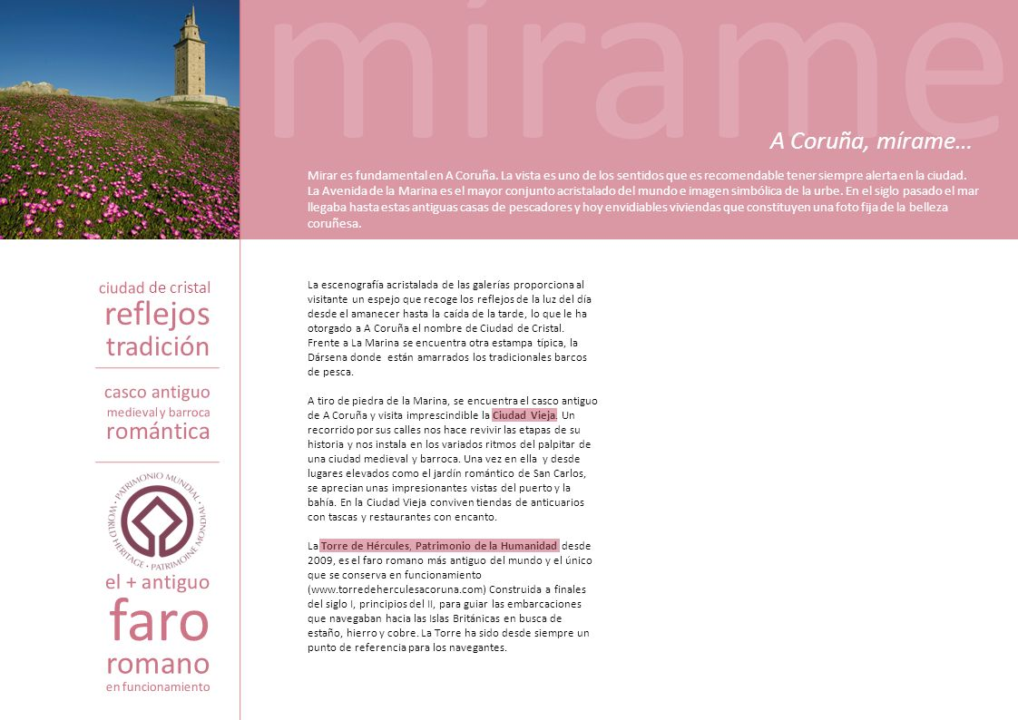 mírame faro reflejos romano tradición A Coruña, mírame… romántica
