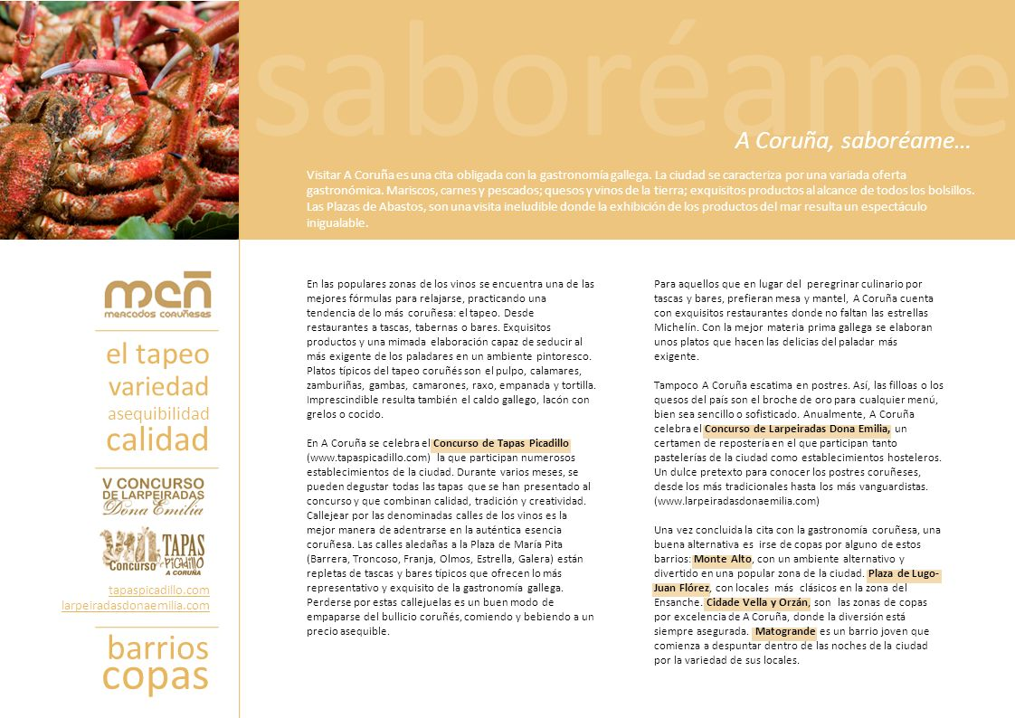 saboréame copas calidad barrios el tapeo variedad A Coruña, saboréame…