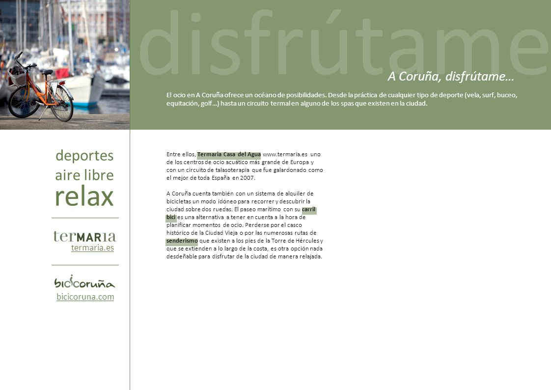 disfrútame disfrútame relax deportes aire libre A Coruña, disfrútame…