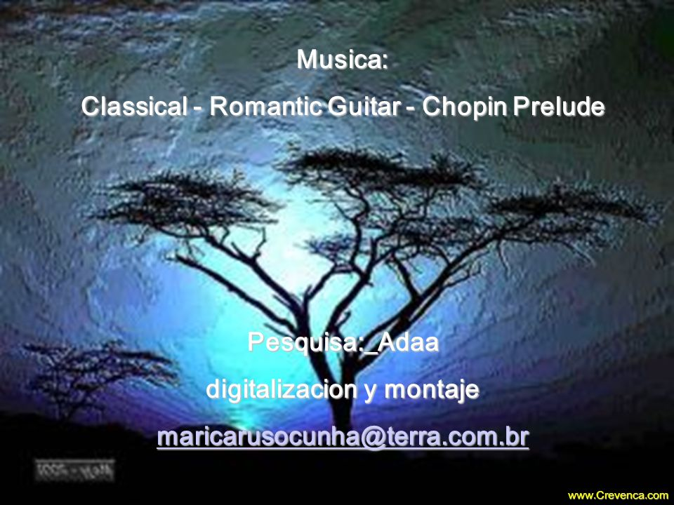 Classical - Romantic Guitar - Chopin Prelude digitalizacion y montaje