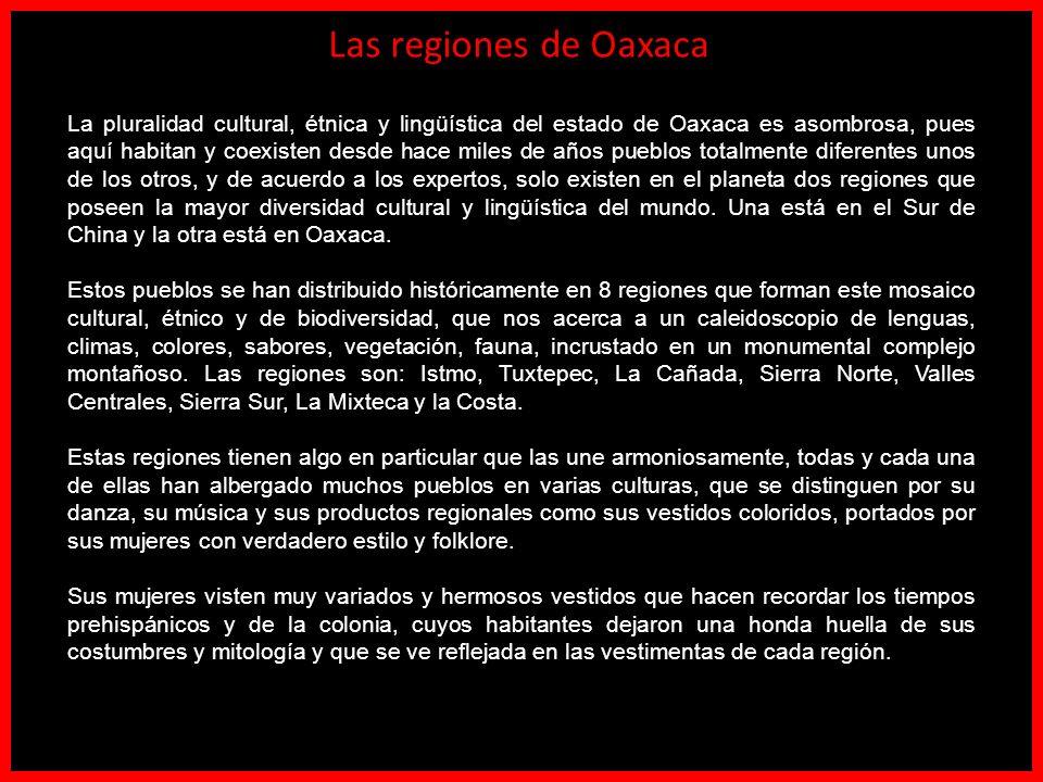Las regiones de Oaxaca