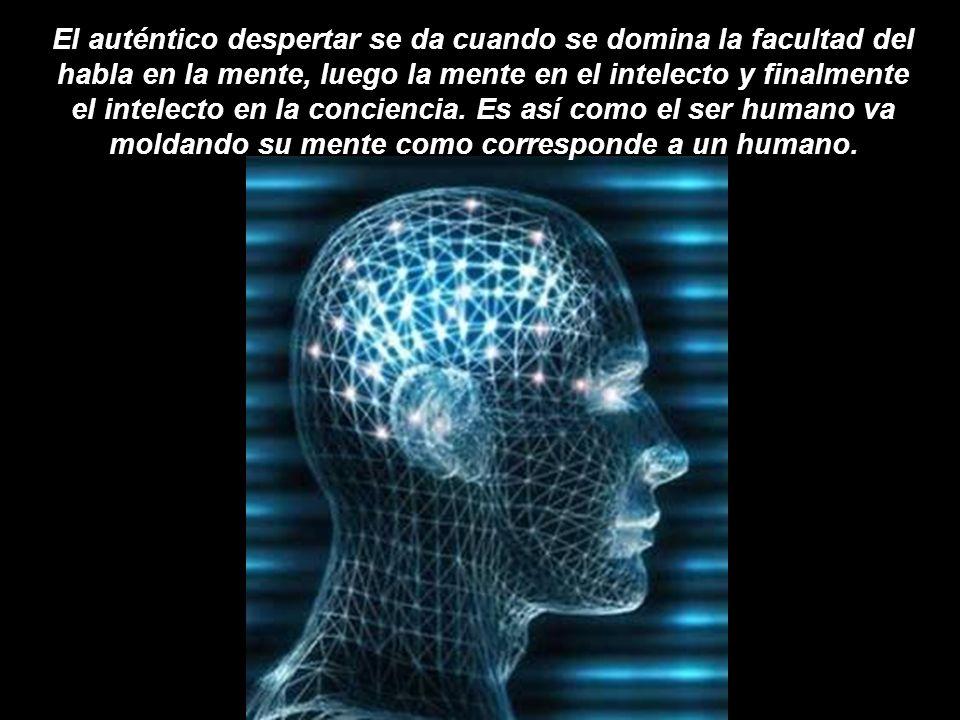 El auténtico despertar se da cuando se domina la facultad del habla en la mente, luego la mente en el intelecto y finalmente el intelecto en la conciencia.