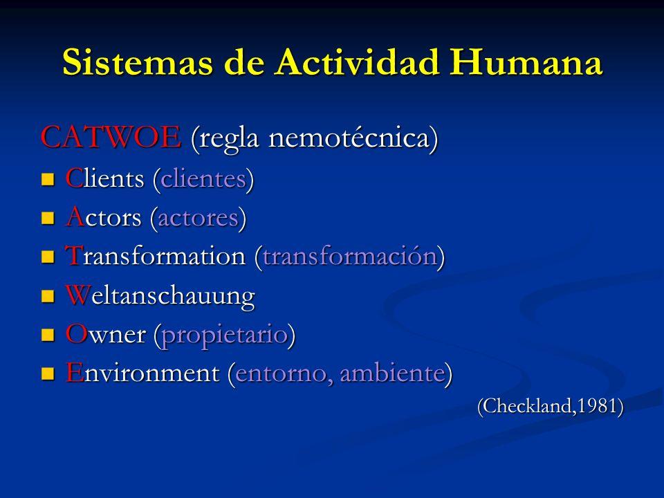 Sistemas de Actividad Humana