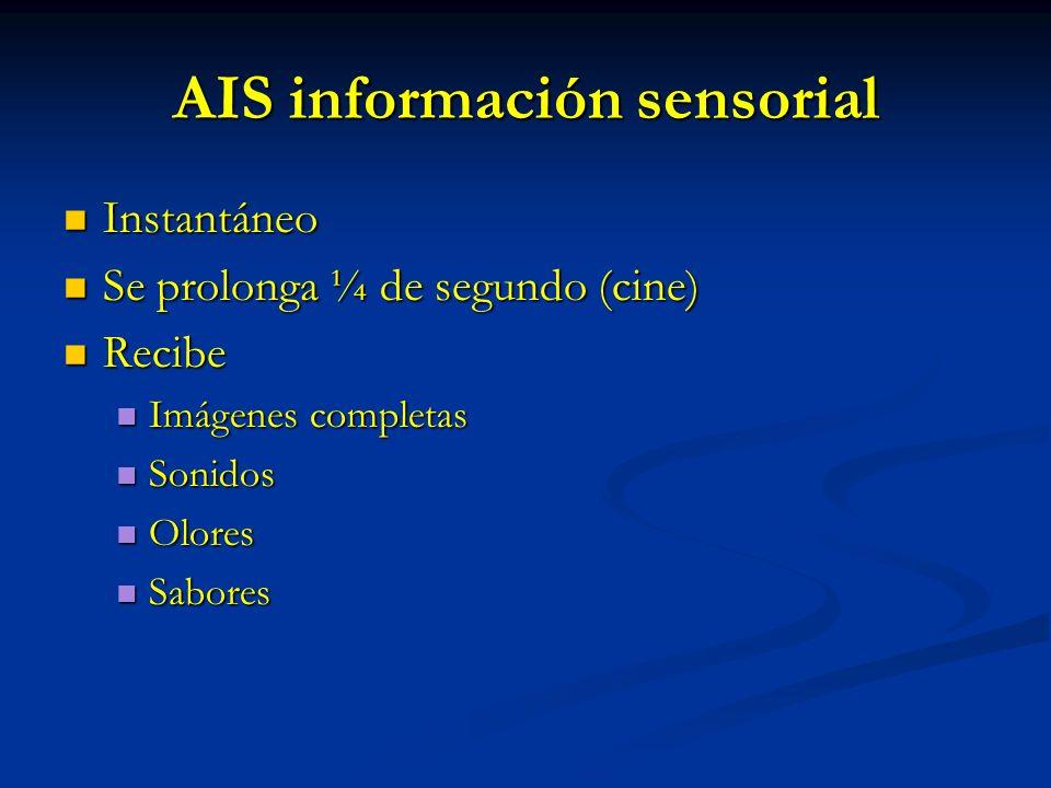 AIS información sensorial