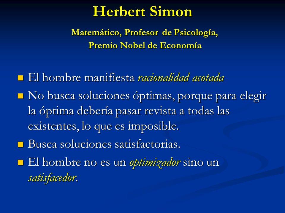 Herbert Simon Matemático, Profesor de Psicología, Premio Nobel de Economía