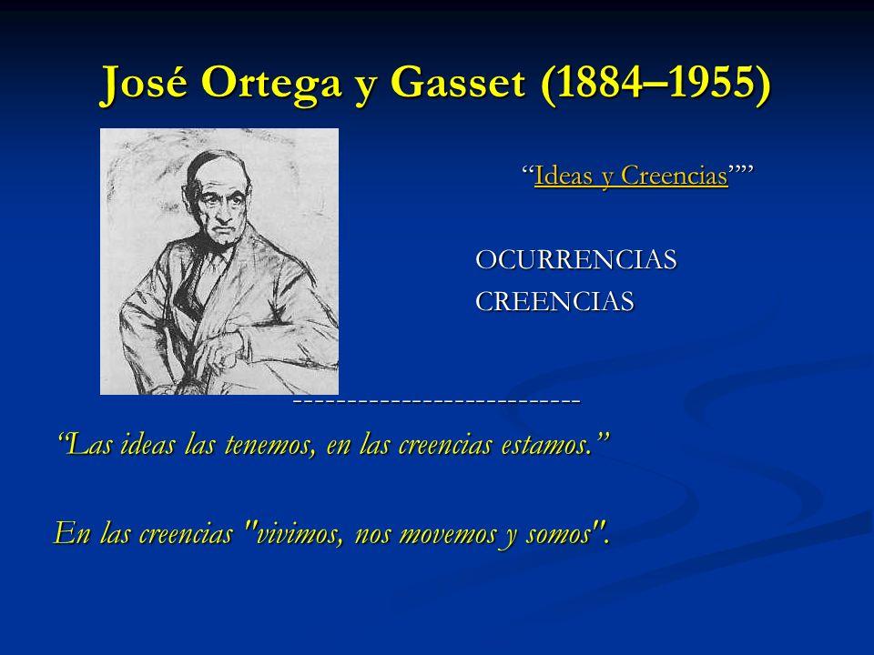 José Ortega y Gasset (1884–1955)