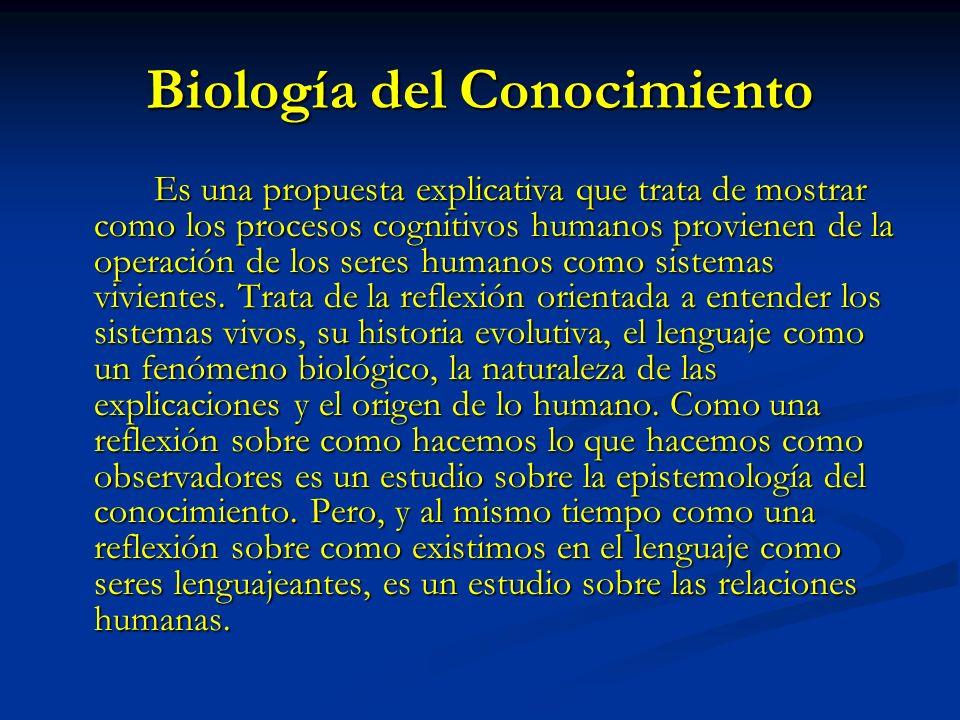 Biología del Conocimiento