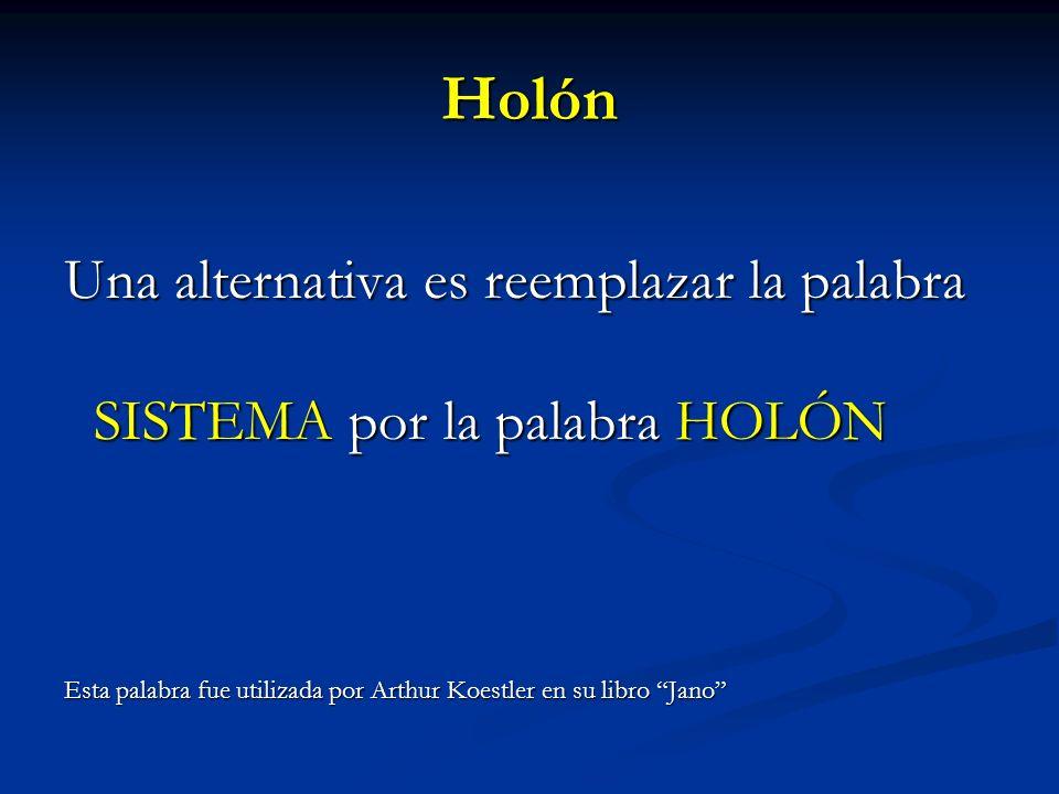 Holón Una alternativa es reemplazar la palabra
