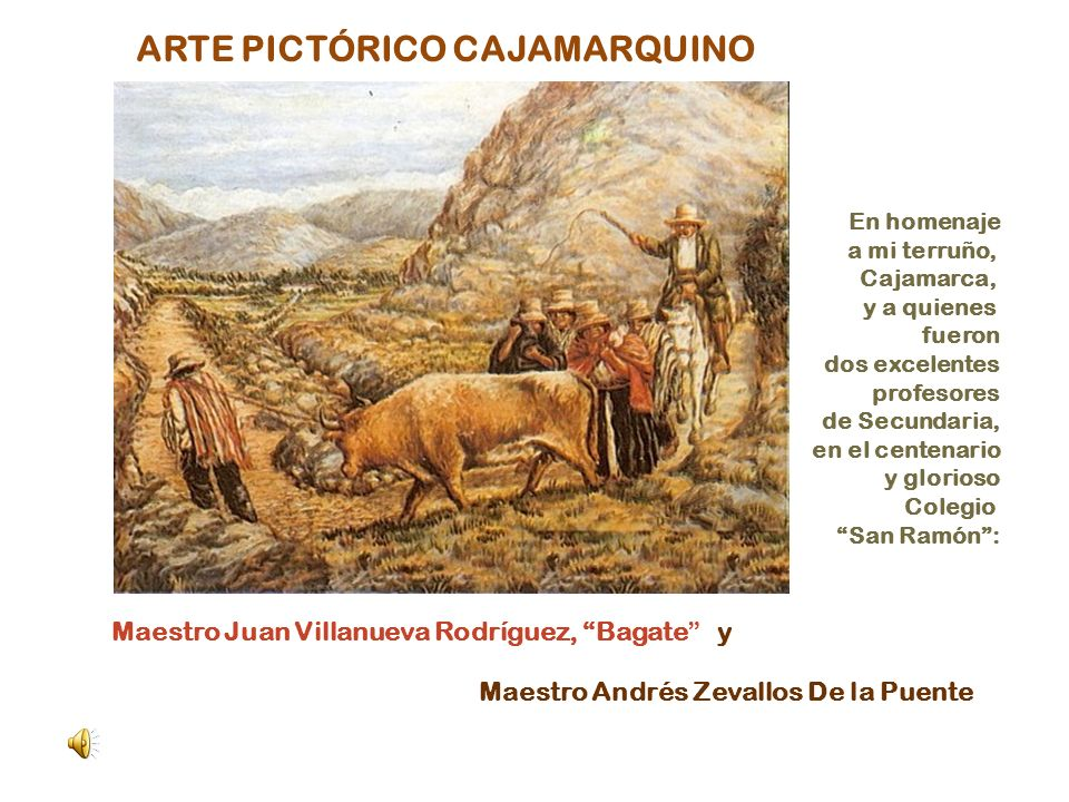 ARTE PICTÓRICO CAJAMARQUINO