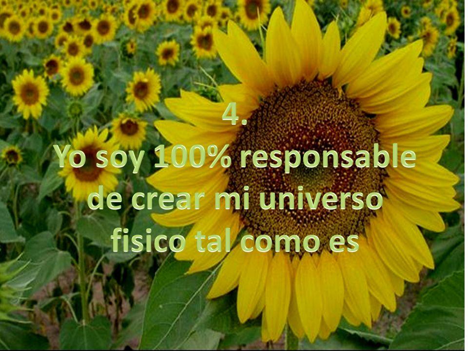 4. Yo soy 100% responsable de crear mi universo fisico tal como es