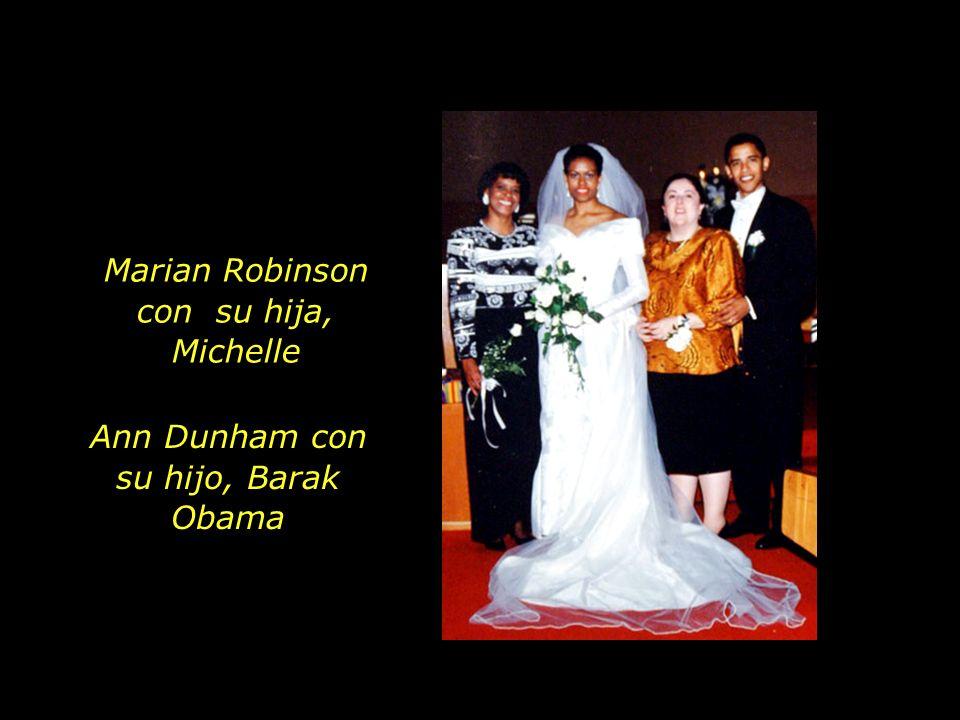 Marian Robinson con su hija, Michelle