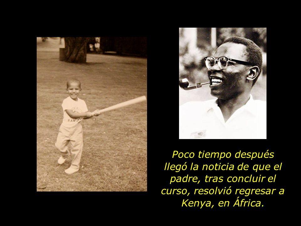 Poco tiempo después llegó la noticia de que el padre, tras concluir el curso, resolvió regresar a Kenya, en África.