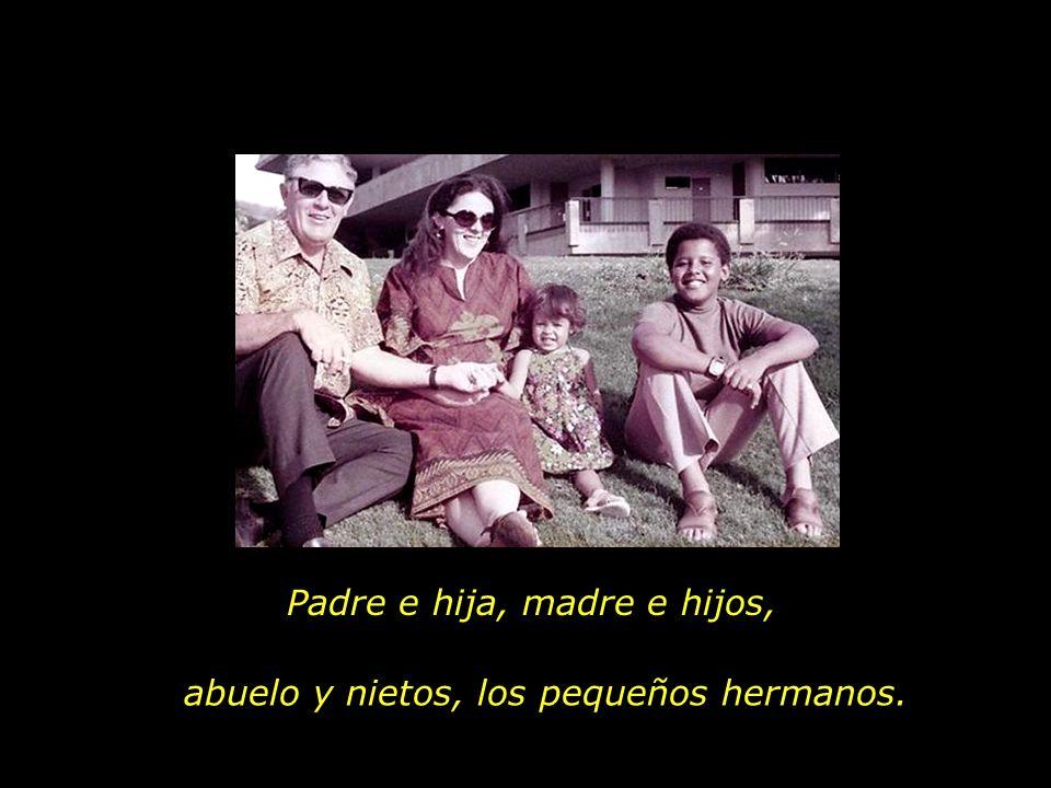Padre e hija, madre e hijos,