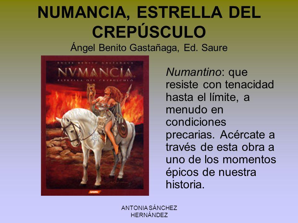 NUMANCIA, ESTRELLA DEL CREPÚSCULO Ángel Benito Gastañaga, Ed. Saure