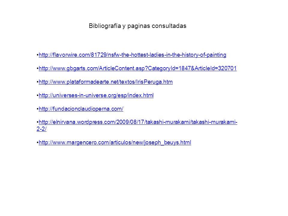 Bibliografía y paginas consultadas