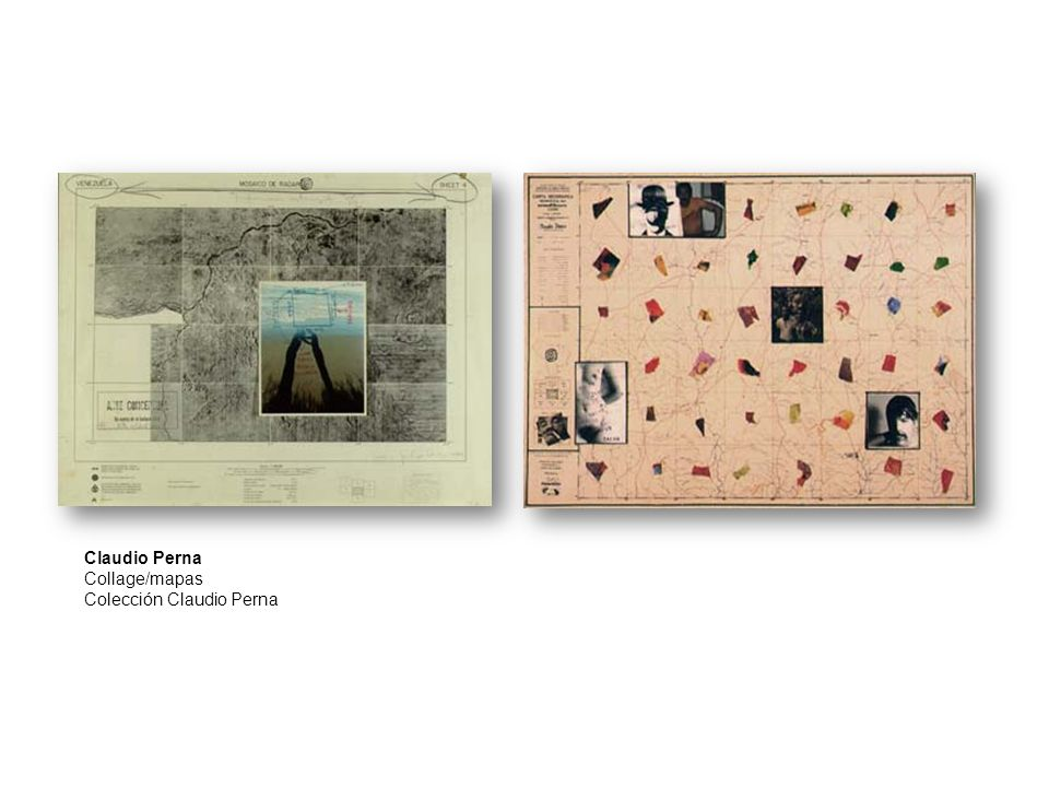Claudio Perna Collage/mapas Colección Claudio Perna