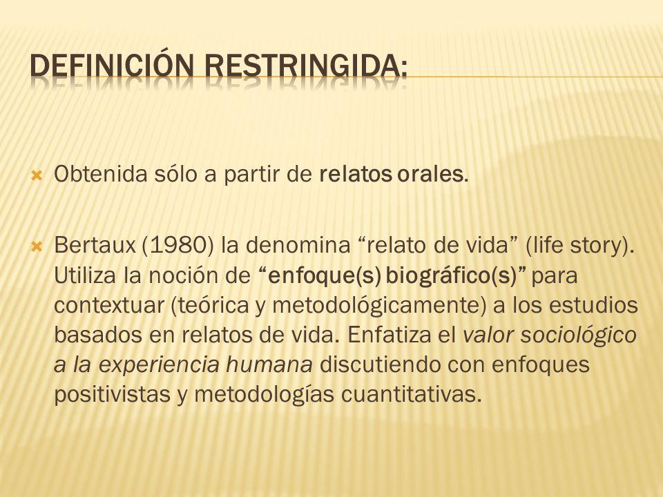 Definición restringida: