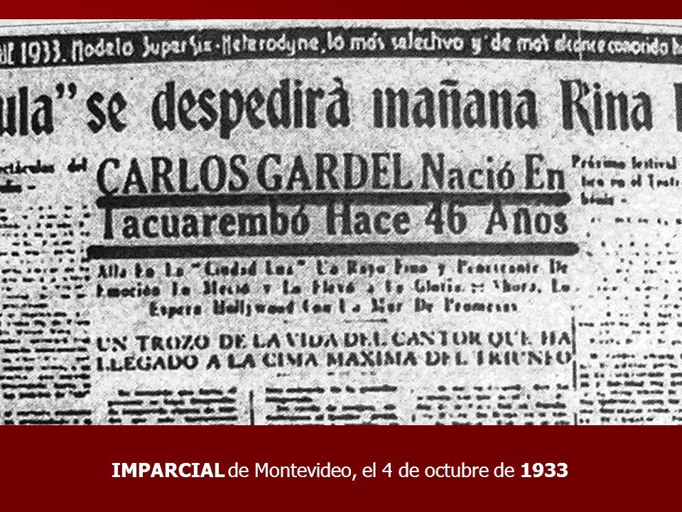 IMPARCIAL de Montevideo, el 4 de octubre de 1933