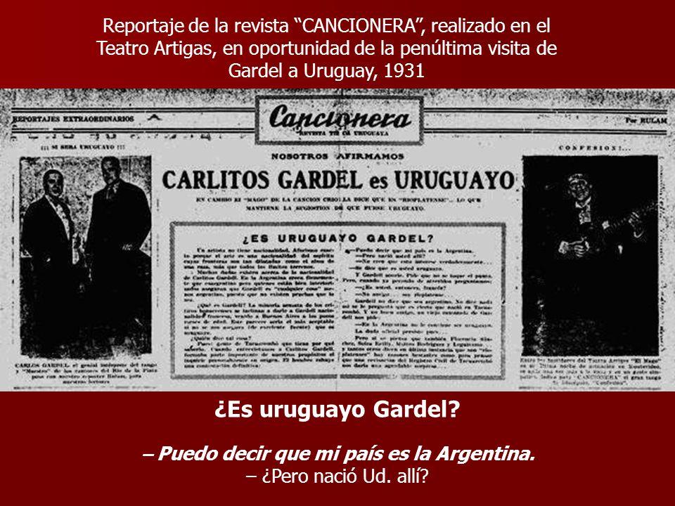 – Puedo decir que mi país es la Argentina.