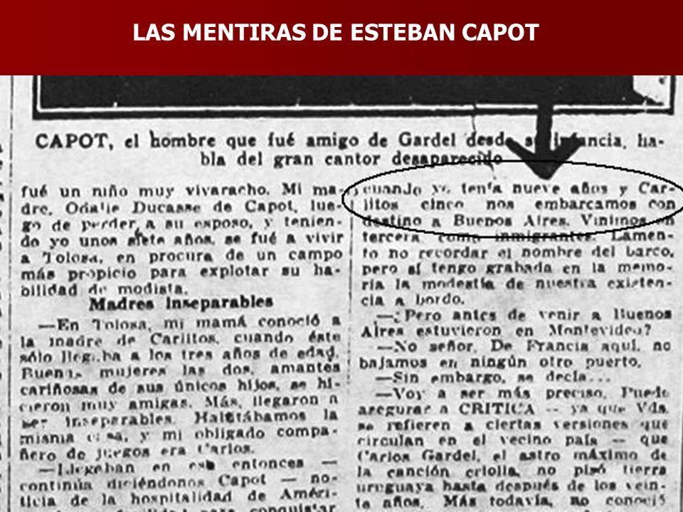LAS MENTIRAS DE ESTEBAN CAPOT