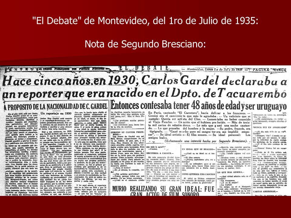 El Debate de Montevideo, del 1ro de Julio de 1935: