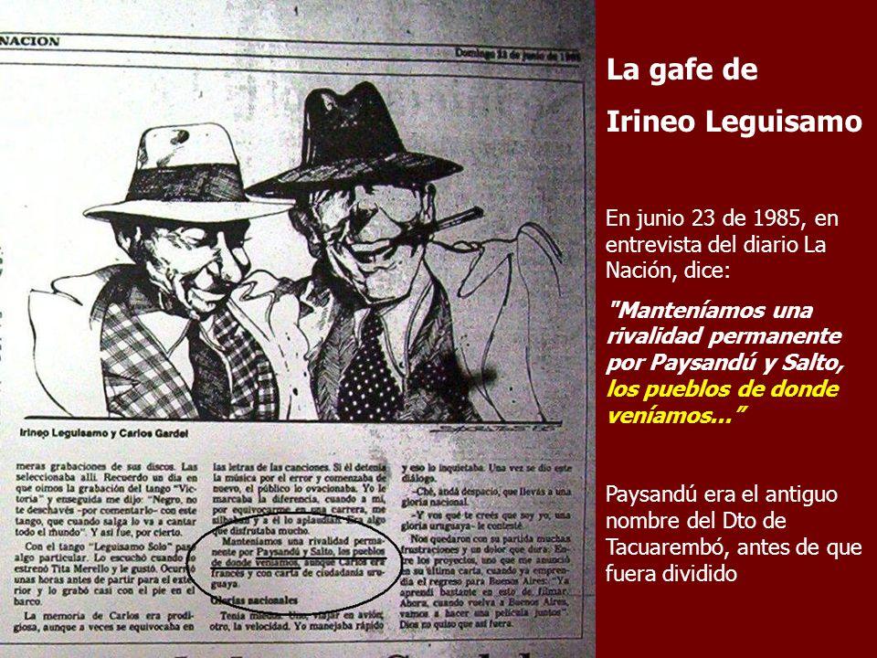 La gafe de Irineo Leguisamo