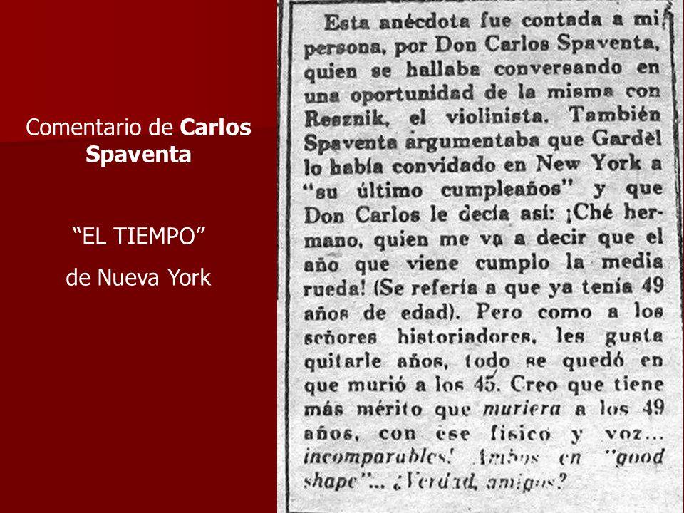 Comentario de Carlos Spaventa