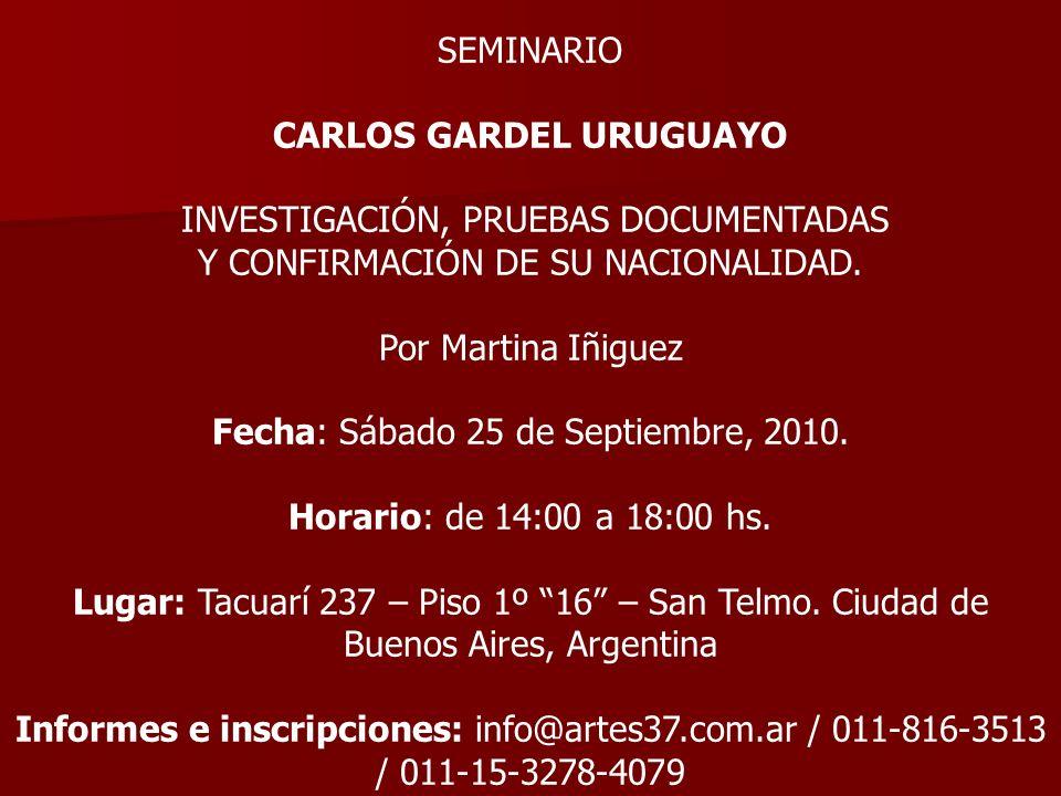 CARLOS GARDEL URUGUAYO