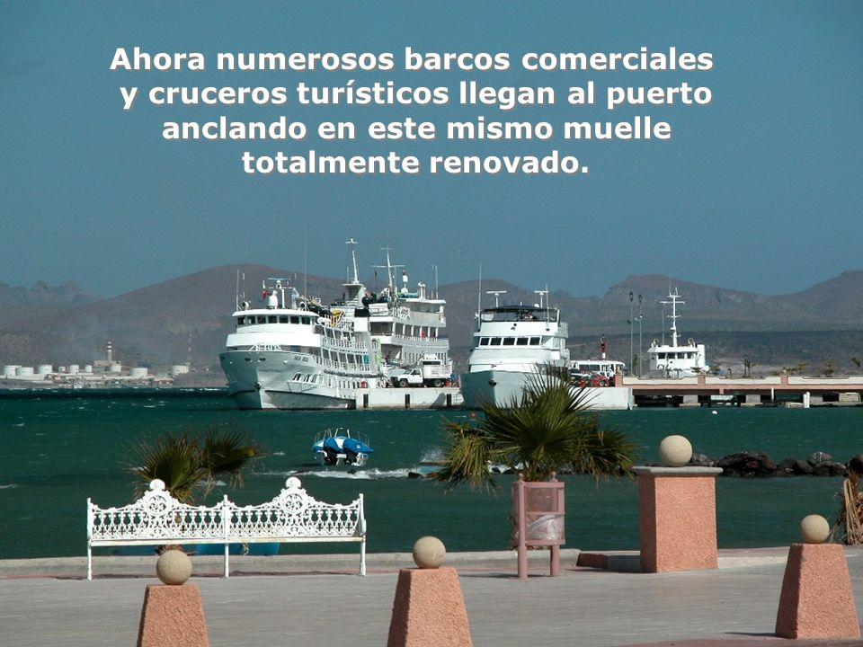 Ahora numerosos barcos comerciales