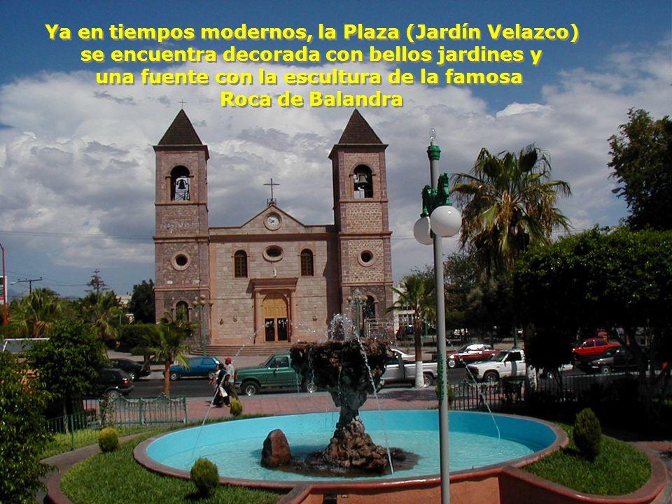 Ya en tiempos modernos, la Plaza (Jardín Velazco)