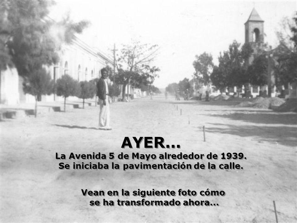 AYER... La Avenida 5 de Mayo alrededor de 1939.