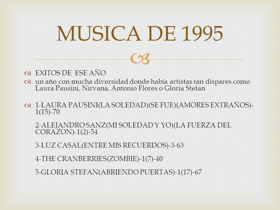 MUSICA DE 1995 EXITOS DE ESE AÑO