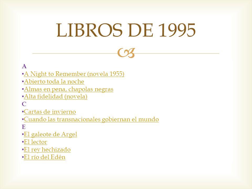 LIBROS DE 1995 A A Night to Remember (novela 1955)