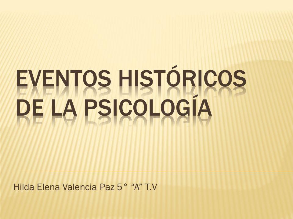 Eventos históricos de la psicología